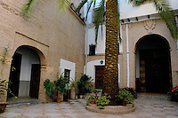 View of a courtyard in a convent, Cordoba, Andalusia, Spain.