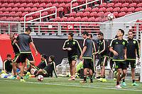 Action photo during Training Selection of Mexico before its match against Chile Corresponds to the quarterfinals of the America Cup Centenary 2016 at Levis Stadium,<br /> <br /> Foto de accion durante el Entrenamiento de la Seleccion de Mexico previo a su partido contra Chile Correspondiente a los Cuartos de Final de la Copa America Centenario 2016, en el Estadio Levis, en la foto: Javier Hernandez<br /> <br /> <br /> 17/06/2016/MEXSPORT/Omar Martinez.
