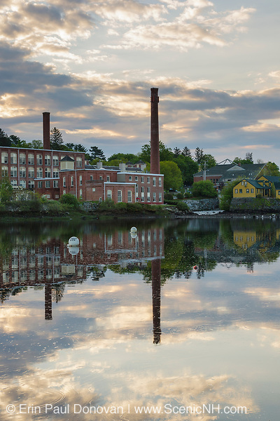 Squamscott River in downtown Exeter, New Hampshire USA