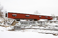 63904-03403 Bridgeton Covered Bridge in winter at Bridgeton, IN