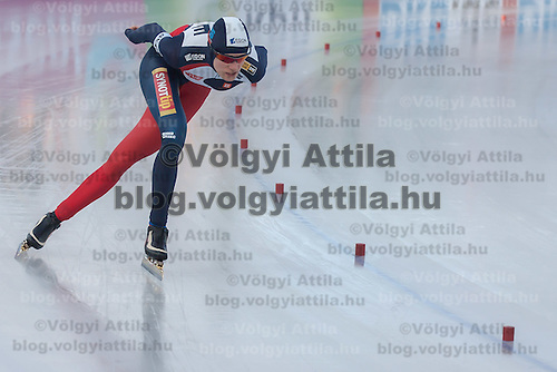 Czech Republic's Martina Sablikova competes in Women's 5000m race of the Speed Skating All-round European Championships in Budapest, Hungary on January 8, 2012. ATTILA VOLGYI