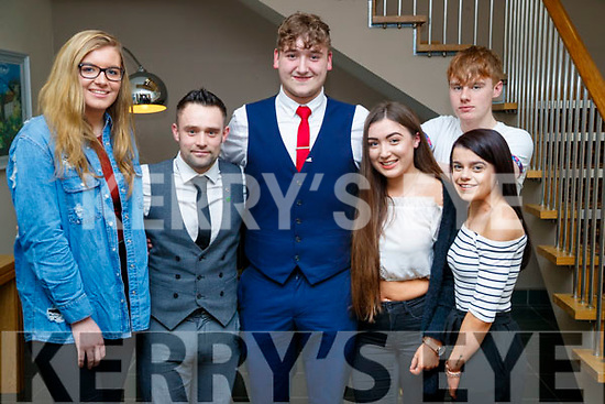 Ian O'Donoghue, Simon Bowes, David Murrell Musgrave (recipient), Gretta Dineen, Kieran Thompson and Michaela Buckley Riordan, all from Killarney, pictured at the Lee Strand/Kerry Garda Youth Achievement Awards 2017 at Ballyroe Heights Hotel, Tralee, on Friday night last.