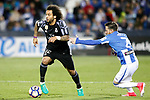 CD Leganes' Ruben Perez (r) and Real Madrid's Marcelo Vieira during La Liga match. April 5,2017. (ALTERPHOTOS/Acero)