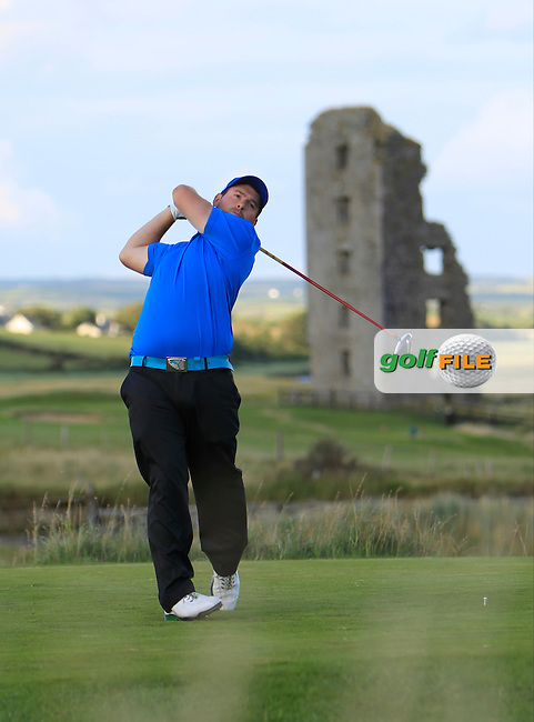 Richard Bridges (Stackstown) on the 13th tee during the South of Ireland Amateur Open Championship Third Round at Lahinch Golf Club  29th July 2013 <br /> Picture:  Thos Caffrey / www.golffile.ie