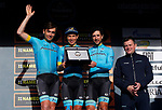 Astan Pro Cycling win the Team Classification after Stage 7 of the 53rd edition of the Tirreno-Adriatico 2018 a 10km individual time trial around San Benedetto del Tronto, Italy. 13th March 2018.<br /> Picture: LaPresse/Spada | Cyclefile<br /> <br /> <br /> All photos usage must carry mandatory copyright credit (&copy; Cyclefile | LaPresse/Spada)