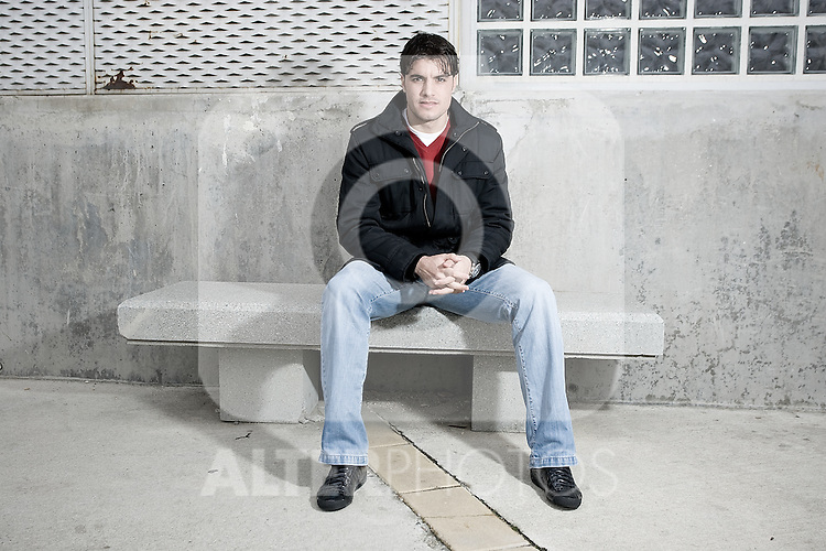 Real Madrid's Pedro Leon during portrait session. February 18, 2010. (ALTERPHOTOS/Alvaro Hernandez)