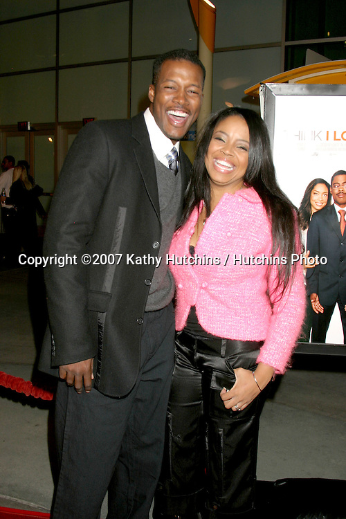 "Flex Alexander & Wife Shanice."" Think I Love My Wife"" Premiere.ArcLight Theaters.Los Angeles, CA.March 7, 2007.©2007 Kathy Hutchins / Hutchins Photo..."