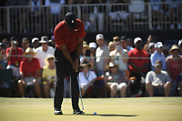 Tiger Woods during the fourth round of the Arnold Palmer Invitational presented by Mastercard, Bay Hill, Orlando, Florida, USA. March 18, 2018.<br /> Picture: Golffile | Dalton Hamm<br /> <br /> <br /> All photo usage must carry mandatory copyright credit (&copy; Golffile | Dalton Hamm)