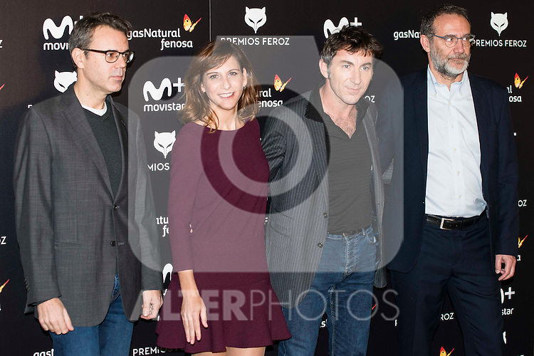 Pedro Vallin, Malena Alter and Antonio de la Torre attends to the finalists reading of the Feroz Awards 2017 at Casa America in Madrid, Spain. December 01, 2016. (ALTERPHOTOS/BorjaB.Hojas)