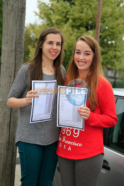Grace McNally, and Cliona Sands<br /> Leaving Cert Results<br /> Picture:  Fran Caffrey / www.newsfile.ie