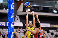 Central Manawa&rsquo;s Saviour Tui in action during the Beko Netball League - Central Manawa v Hellers Mainland at Fly Palmy Arena, Palmerston North, New Zealand on Sunday 10 March 2019. <br /> Photo by Masanori Udagawa. <br /> www.photowellington.photoshelter.com