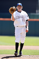 May 21, 2009:  Starting Pticher Michael Antonini of the Buffalo Bisons, International League Triple-A affiliate of the New York Mets, delivers a pitch during a game at Coca-Cola Field in Buffalo, NY.  Photo by:  Mike Janes/Four Seam Images