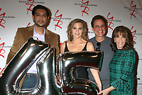 LOS ANGELES - MAR 26:  Abhi Sinha, Gina Tognoni, Christian LeBlanc, Kate Linder at the The Young and The Restless Celebrate 45th Anniversary at CBS Television City on March 26, 2018 in Los Angeles, CA