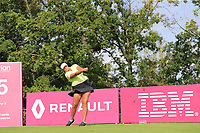 Maria Torres (PRI) tees off the 5th tee during Friday's Round 2 of The Evian Championship 2018, held at the Evian Resort Golf Club, Evian-les-Bains, France. 14th September 2018.<br /> Picture: Eoin Clarke | Golffile<br /> <br /> <br /> All photos usage must carry mandatory copyright credit (&copy; Golffile | Eoin Clarke)