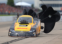 May 20, 2017; Topeka, KS, USA; NHRA funny car driver J.R. Todd during qualifying for the Heartland Nationals at Heartland Park Topeka. Mandatory Credit: Mark J. Rebilas-USA TODAY Sports