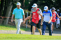 Chez Reavie (USA) and Andy Sullivan (ENG) walking to the 16th tee during the 3rd round at the WGC HSBC Champions 2018, Sheshan Golf CLub, Shanghai, China. 27/10/2018.<br /> Picture Fran Caffrey / Golffile.ie<br /> <br /> All photo usage must carry mandatory copyright credit (&copy; Golffile | Fran Caffrey)