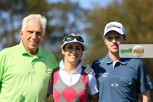 Stephen L. Green (Am), Elise M. Brandt (Am) and Kevin Phelan (IRL) during the Pro-Am of The Open De Espana at The PGA Catalunya Resort on Wednesday 14th May 2014.<br /> Picture:  Thos Caffrey / www.golffile.ie