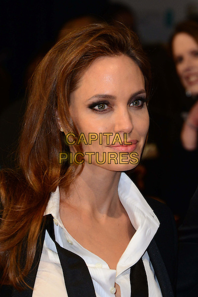LONDON, ENGLAND - FEBRUARY 16:   Angelina Jolie attends EE British Academy Film Awards (BAFTAs) at Royal Opera House, Covent Garden, on February 16, 2014, in London, England.  <br /> CAP/JOR<br /> &copy;Nils Jorgensen/Capital Pictures