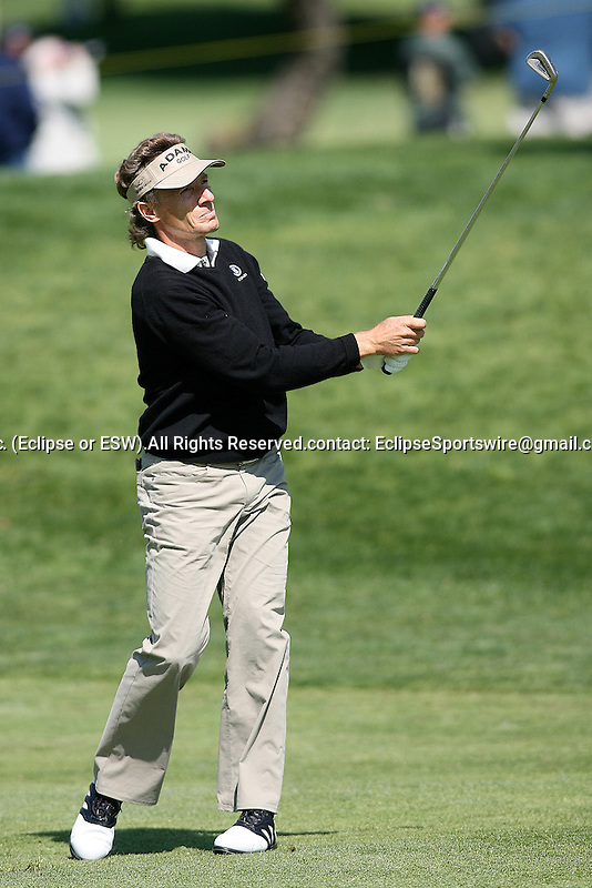 March 06, 2009 Newport Beach, CA: Bernhard Langer during the 1st round of the Toshiba Classic, held at the Newport Beach Country Club.