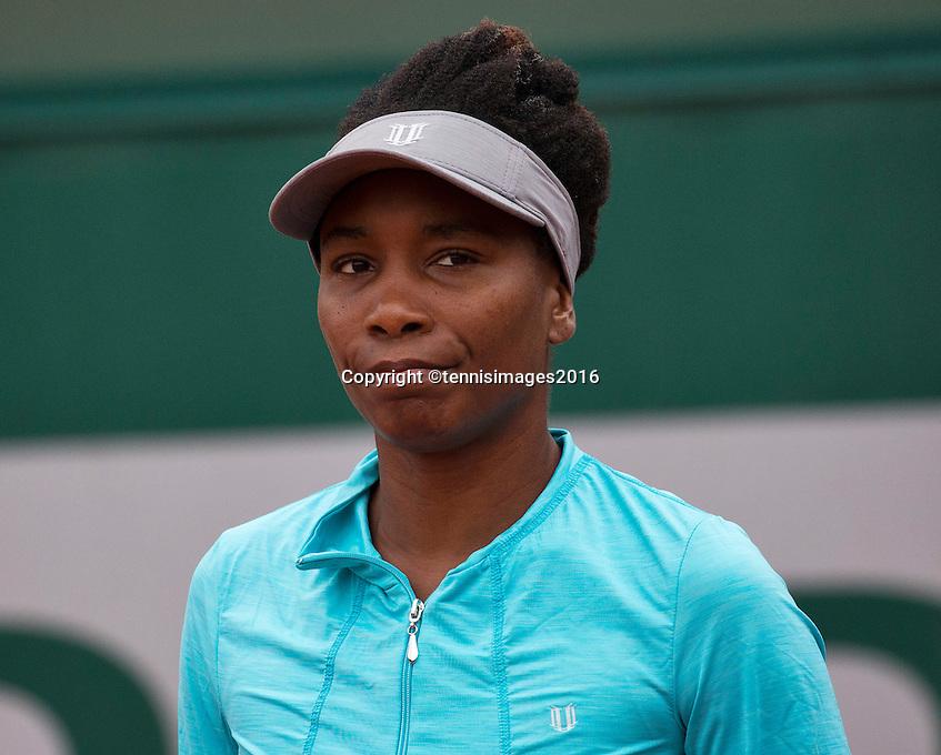 Paris, France, 29 June, 2016, Tennis, Roland Garros, Venus Williams (USA)<br /> Photo: Henk Koster/tennisimages.com