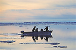Inupiat's Hunting & Fishing On Arctic Ocean