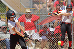 02 June 2017: Alexandra Williams.  Goreville Blackcats v Heyworth Hornets class 1A IHSA Class 1A Softball Semi-Final at Eastside Centre in East Peoria Illinois