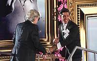Ollie Locke,  Lionel Blair at Celebrity Big Brother 2014 - Contestants Enter The House, Borehamwood. 03/01/2014 Picture by: Henry Harris / Featureflash