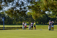 Danielle Kang (USA), Ariya Jutanugarn (THA), and Inbee Park (KOR) wait to tee off on 3 during round 1 of the 2018 KPMG Women's PGA Championship, Kemper Lakes Golf Club, at Kildeer, Illinois, USA. 6/28/2018.<br /> Picture: Golffile | Ken Murray<br /> <br /> All photo usage must carry mandatory copyright credit (&copy; Golffile | Ken Murray)