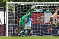 Sari van Veenendaal of Arsenal Women saves under pressure during Arsenal Women vs Manchester City Women, FA Women's Super League Football at Meadow Park on 11th May 2019