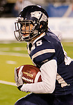 November 12, 2011:  Nevada's Kendall Brock returns a kick in the first quarter during a WAC league game vs Hawaii played at Mackay Stadium in Reno, Nevada.