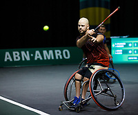 Rotterdam, The Netherlands, 11 Februari 2020, ABNAMRO World Tennis Tournament, Ahoy, <br /> Wheelchair tennis: Stefan Olsson (SWE).<br /> Photo: www.tennisimages.com