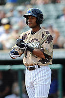 Trenton Thunder outfielder Zoilo Almonte (49) during game against the Altoona Curve at Samuel L. Plumeri Sr. Field at Mercer County Waterfront Park on August 22, 2012 in Trenton, NJ.  Altoona defeated Trenton 14-2.  Tomasso DeRosa/Four Seam Images