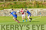 Brendan Rahilly Scartaglen takes on  Mike Horan Spa during their East Kerry Championship clash in Spa on Saturday