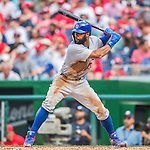 15 June 2016: Chicago Cubs right fielder Jason Heyward in action against the Washington Nationals at Nationals Park in Washington, DC. The Cubs fell to the Nationals 5-4 in 12 innings in the rubber match of their 3-game series. Mandatory Credit: Ed Wolfstein Photo *** RAW (NEF) Image File Available ***