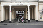 Entrance to Greenwich market, London, England. Greenwich Market trades five days a week, being closed on Monday and Tuesday.