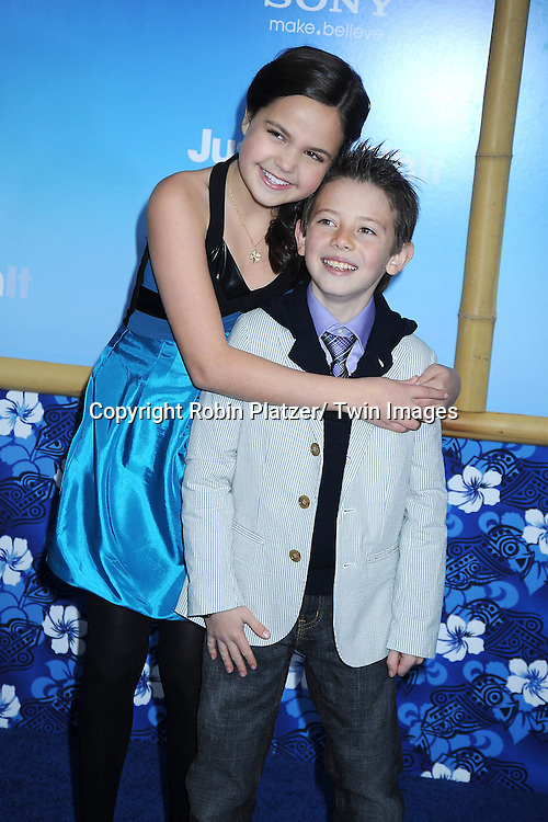"Bailee Madison and Griffin Gluck attending the Special New York Screening of "" Just Go With It"" on February 8, 2011 at The Ziegfeld Theatre in New York City."