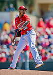 29 February 2020: St. Louis Cardinals pitcher Carlos Martinez on the mound during a game against the Washington Nationals at Roger Dean Stadium in Jupiter, Florida. The Cardinals defeated the Nationals 6-3 in Grapefruit League play. Mandatory Credit: Ed Wolfstein Photo *** RAW (NEF) Image File Available ***