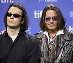 Damien Echols & Johnny Depp attending the The 2012 Toronto International Film Festival.Photo Call for 'West of Memphis' at the TIFF Bell Lightbox in Toronto on 9/8/2012