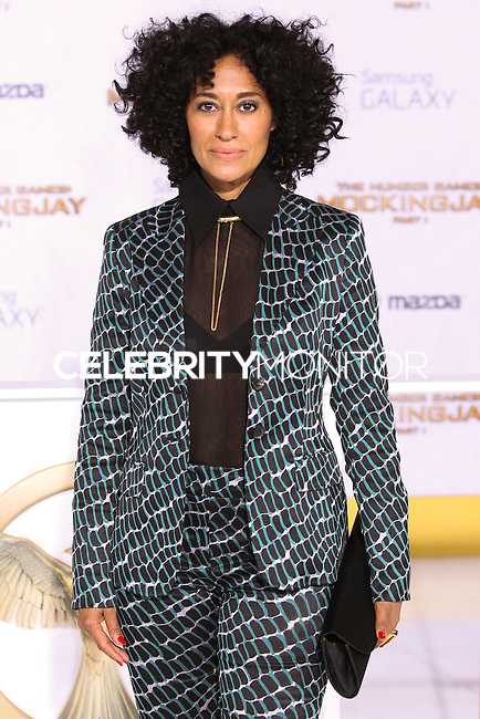 LOS ANGELES, CA, USA - NOVEMBER 17: Tracee Ellis Ross arrives at the Los Angeles Premiere Of Lionsgate's 'The Hunger Games: Mockingjay, Part 1' held at Nokia Theatre L.A. Live on November 17, 2014 in Los Angeles, California, United States. (Photo by Rudy Torres/Celebrity Monitor)