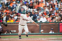 Norichika Aoki (Giants),<br /> MAY 10, 2015 - MLB : Norichika Aoki of the San Francisco Giants bats against the Miami Marlins during the Major League Baseball game at AT&amp;T Park in San Francisco, California, United States.<br /> (Photo by Thomas Anderson/AFLO) (JAPANESE NEWSPAPER OUT)