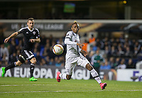 Clinton N'Jie of Tottenham Hotspur goes through on goal during the UEFA Europa League match between Tottenham Hotspur and Qarabag FK at White Hart Lane, London, England on 17 September 2015. Photo by Andy Rowland.