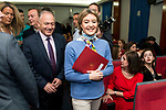 "Minister for Agriculture and Fisheries, Food and Environment, Isabel García Tejerina during the presentation of the book ""Llevame contigo"" of Carlos Rodriguez in Madrid, Spain. March 15, 2017. (ALTERPHOTOS/BorjaB.Hojas)"