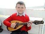 Conor Byrne pictured at the Louth Fleadh Cheoil held in St Oliver's Community College. Photo: Colin Bell/pressphotos.ie