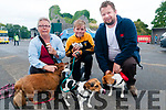 Lixnaw Family Fun Day : Attending the dog show at the Lixnaw Family Fun Day At the Lixnaw  GAA grounds were Sue Peter & Pete Hinchciffe from Abbeydorney with their dogs Toby, Jack & Bean.