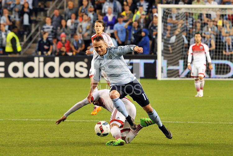 Kansas City, KS. - May 27, 2016: D.C. United defeated Sporting Kansas City 1-0 in a Major League Soccer (MLS) regular season game at Children's Mercy Park.