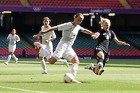 Casey STONEY of Great Britain fires in a shot - Great Britain Women vs New Zealand Women - Womens Olympic Football Tournament London 2012 Group E at the Millenium Stadium, Cardiff, Wales - 25/07/12 - MANDATORY CREDIT: Gavin Ellis/SHEKICKS/TGSPHOTO - Self billing applies where appropriate - 0845 094 6026 - contact@tgsphoto.co.uk - NO UNPAID USE.