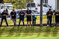 Fans watch the 2018 Heartland Championship rugby match between Horowhenua Kapiti and King Country at Paraparaumu Domain in Paraparaumu, New Zealand on Saturday, 29 September 2018. Photo: Dave Lintott / lintottphoto.co.nz
