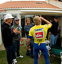 Bede, Troy and Mickhaving a beer at Belly's house after the comp.