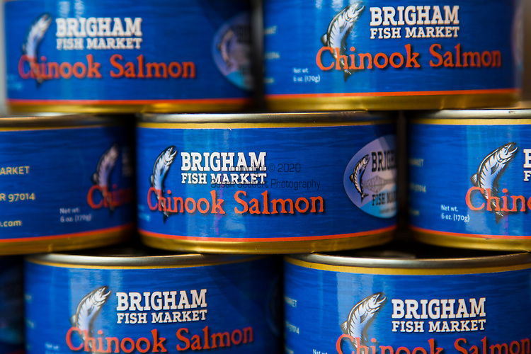The Brigham Fish Market, run by Native American sisters Terrie Brigham and Kim Brigham Campbell in Cascade Locks, Oregon