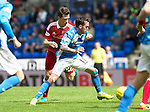 St Johnstone v Aberdeen&hellip;07.08.16  McDiarmid Park. SPFL<br />Danny Swanson and Ryan Jack<br />Picture by Graeme Hart.<br />Copyright Perthshire Picture Agency<br />Tel: 01738 623350  Mobile: 07990 594431